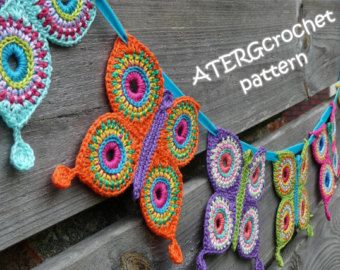 Ganchillo patrón estrella por ATERGcrochet por ATERGcrochet en Etsy