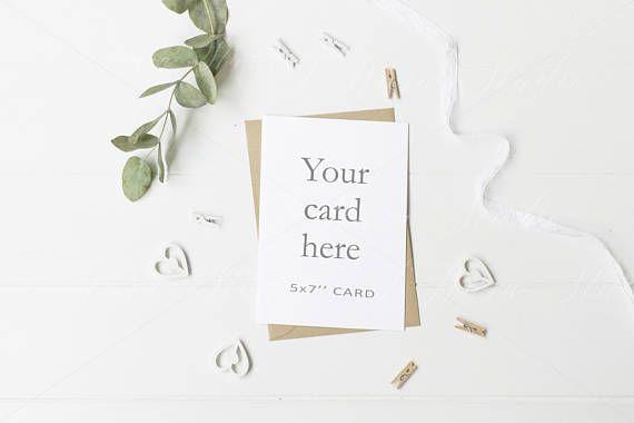 Wedding Stationery Mockup 5x7 Invitation Card Psd Smart Etsy Stationery Mockup Mockup Free Psd Business Card Mock Up