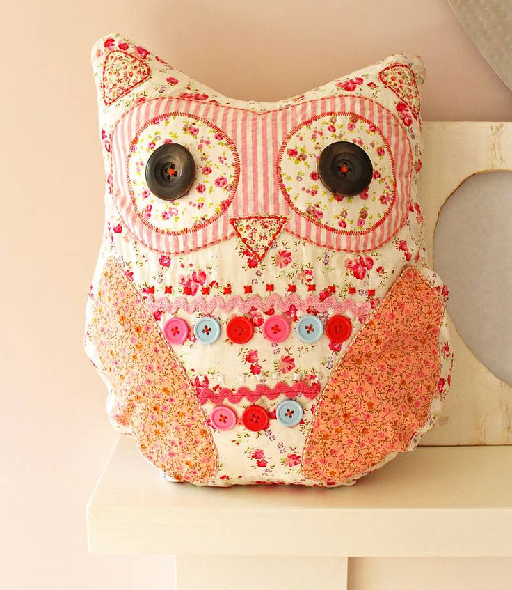 Owl Cushion - for sale on notonthehighstreet for £20.  Removable filling.