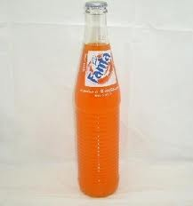 Fanta in a glass bottle