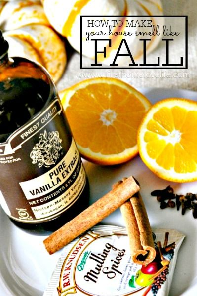 An incredibly easy and effective way to make your whole house smell deliciously like fall! via www.firsthomelovelife.com:
