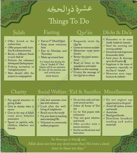 Excellent reminder by Al Huda Institute: Are you making the most of these days?  Click to read an article on 'How to Productively Spend the Best Days of the Year (The First 10 Days of Dhul-Hijjah)': http://proms.ly/1964s3g
