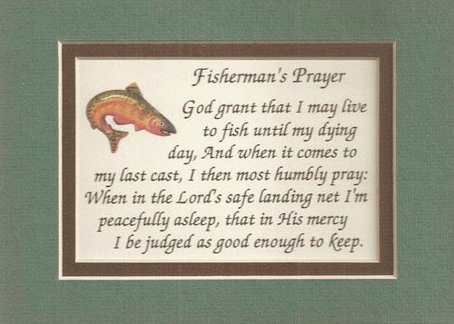 Fisherman prayers verses poems fishing fish rod plaques for Poems about fishing in heaven