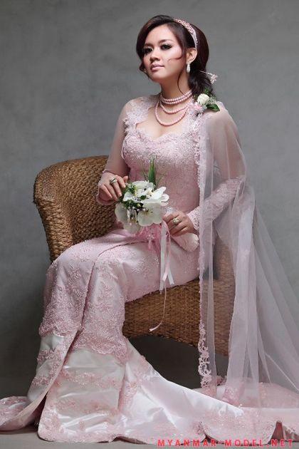 32 best Myanmar Wedding Dress images on Pinterest | Short ...