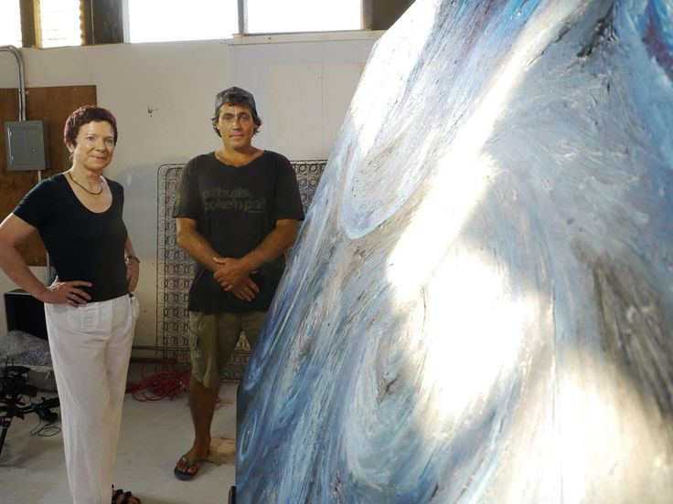 Robby Seeger, #GiantWave #Surfer and protagonist of our OUBEY #Encounter Video 21 together with Dagmar Woyde-Koehler, the initiator of the #MINDKISS project. #artproject #ArtOnTour #GlobalEncounterTour #journey #blue #painting #wave #OUBEY #artexperience #instaart #artwork #art #Kunst #Maui #Hawaii #RobbySeeger #prosurfer #sunshine #light