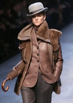 Jean Paul Gautier for Hermes. Great look for a power meeting