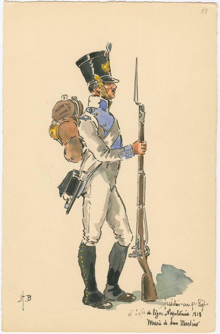 Naples; 9th Line Infantry, Fusilier, 1813