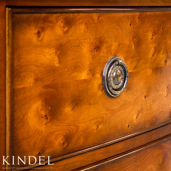 Detail Of The Rich Color And Grain Pattern In The Yewood From Our Regency  Bow Front Chest Of Drawers. Kindel Furniture Is Made To Order 100% In Grand  Rapids ...