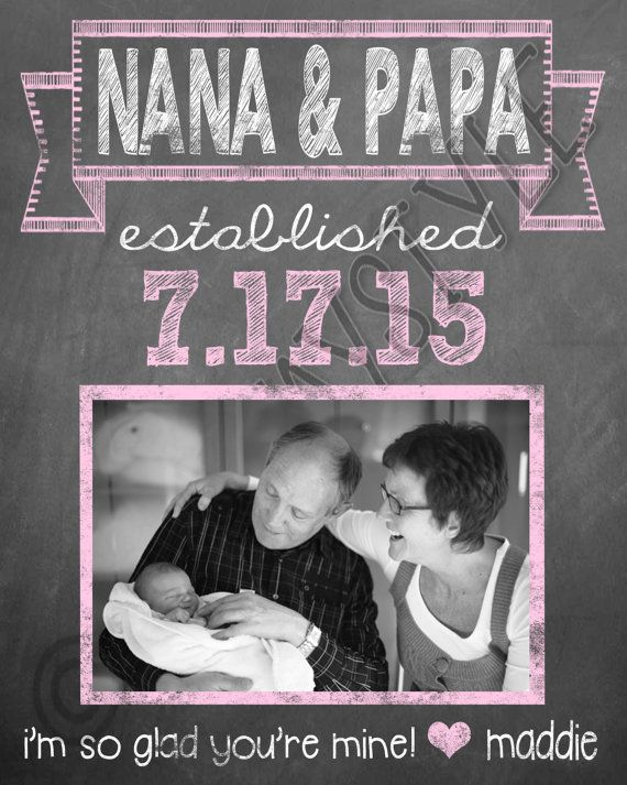 New Grandparents Gift Gift From Grandchild Gift by SubwayStyle