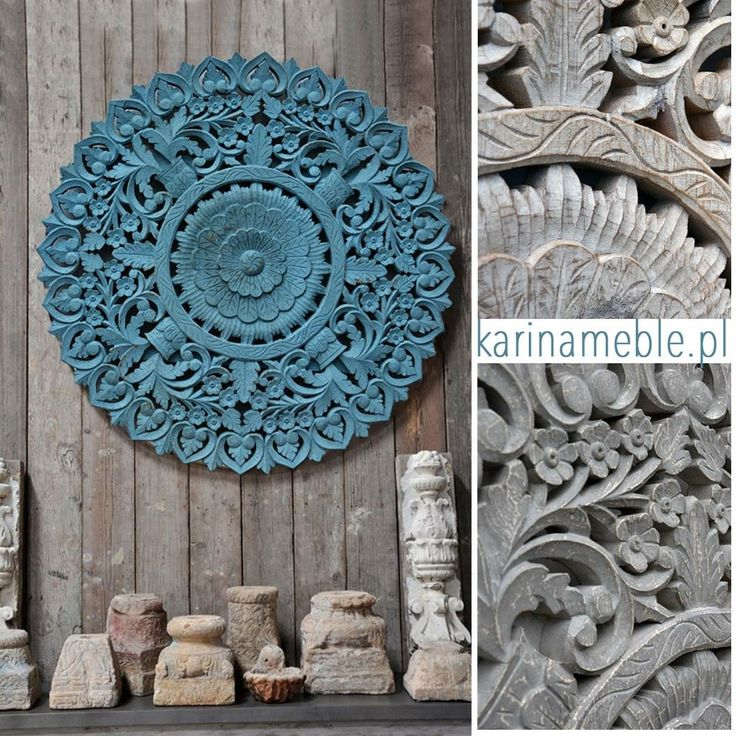 Okrągły rzeźbiony panel to wspaniała do salonu, sypialni lub jadalni. Zrobiony ręcznie z litego drewna, uwagę przyciągają piękne detale i precyzja wykonania. Panel jest wykonane z 2,5 cm grubość drewna mango. Panel można powiesić nad komoda na salonu lub jako dekoracja na ścianę. Idealne można skomponować do meble indyjskie, meble kolorowe, meble kolonialne, meble drewniane i do meble orientalne.