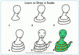 Learn to Draw a Snake