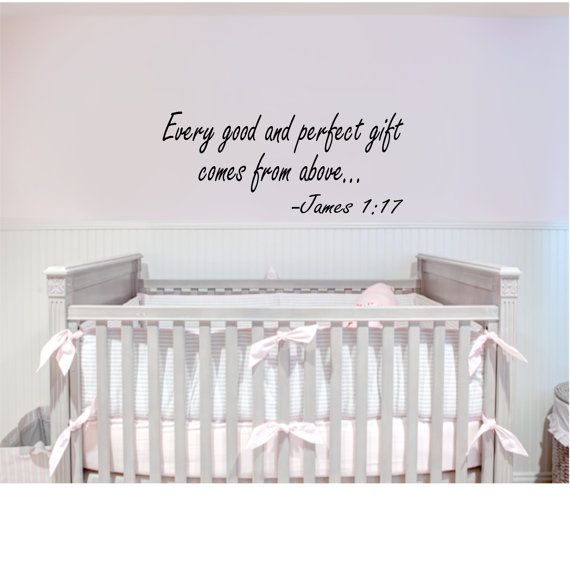 James 1:17 Baby Quote Wall Decal