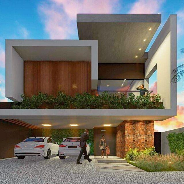 Fachada futurista By Dalber Aguero✨ SNAP: Decoredecor Projeto: Dalber Aguero ARCHITECTURE | FACADE | HOME