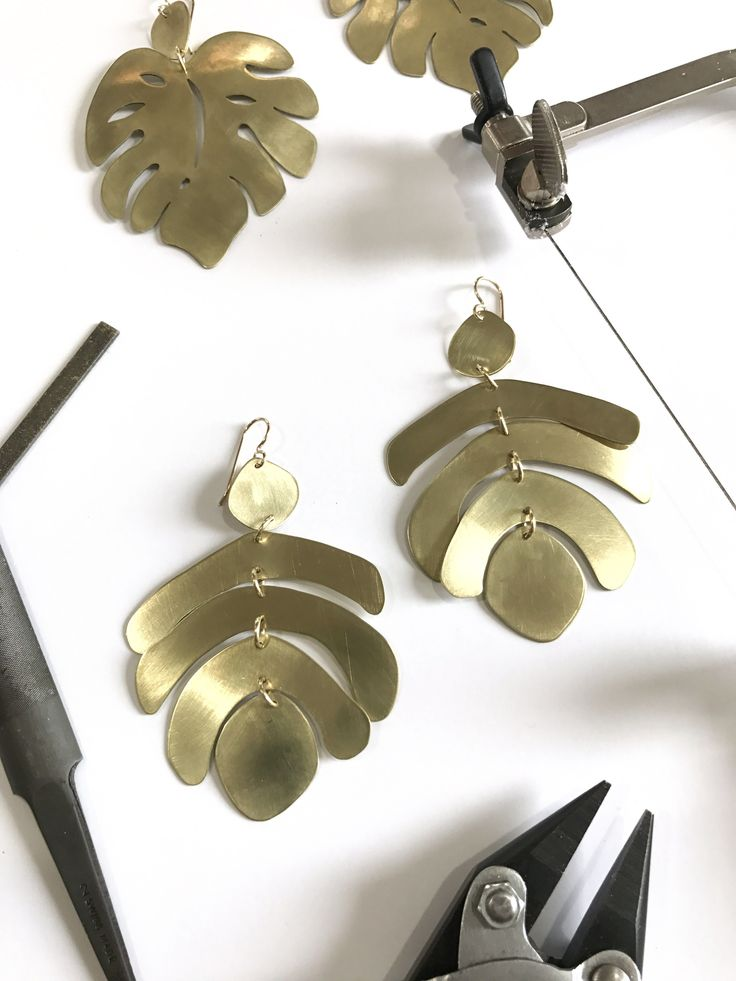 online jewelry making class: Foundations in Metalsmithing: Statement Earrings