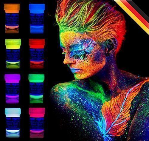 Oferta: 14.75€ Dto: -63%. Comprar Ofertas de neon nights 8 x Pintura Corporal UV Luz Negra Pintura Arte Corporal Neón Maquillaje barato. ¡Mira las ofertas!