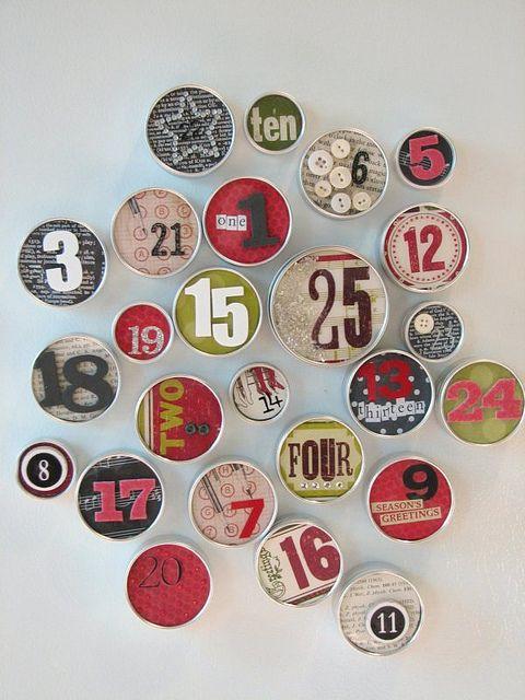 advent calendar: Christmas Advent Calendar, Refrig Magnets, Awesome Advent, Magnets Tins, Calendar Ideas, Holidays Ideas, Magnets Advent, Tins Boxes, Diy Christmas