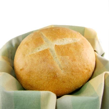 Portuguese White Cornmeal Bread - Pao a Moda de Sao Miguel