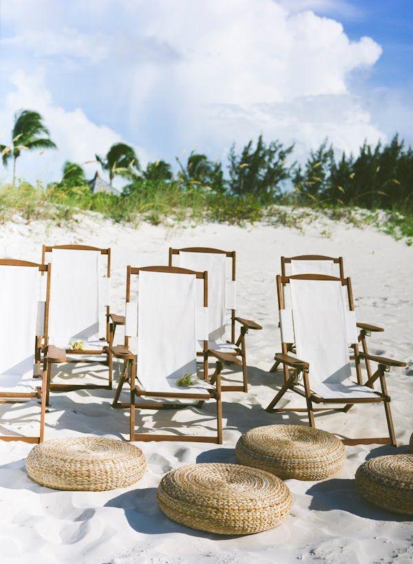 beach chairs for a beach wedding.