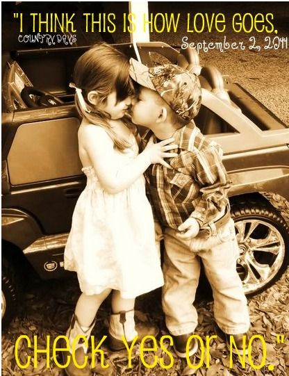 awww :): Oneday, First Kiss, Sweet, Country Boys, Country Kids, Little Cowgirl, Pictures, Camo Hats, Future Kids
