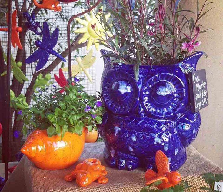 Owl Planter, Ceramic, about 30cm high, $49