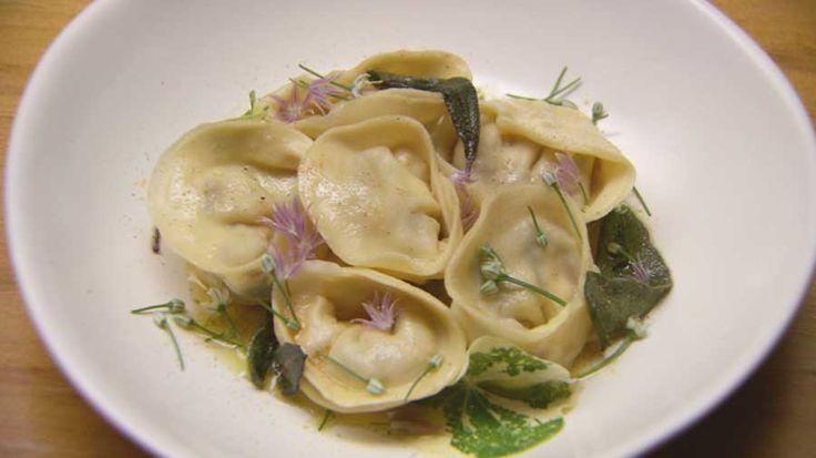Eggplant and Ricotta Tortellini Masterchef Australia