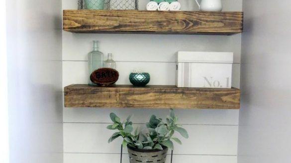 Home Interior: Urgent Shelves Above Toilet Ideas Edge Bathroom Floating Farmhous…   – Shelves recipes