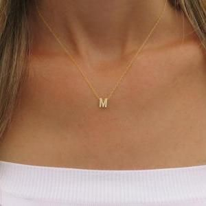 Goldfilled Initial Necklace..