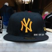 New Era Cap – NY New York Yankees – Black Yellow  Visit our webstore to grab it!!  #newera #topi #caps #hats #baseball #mlb #skateboard #hiphop #bboy #dance #59fifty #fitted #snapback #losangeles #la #dodgers #gelorajersey
