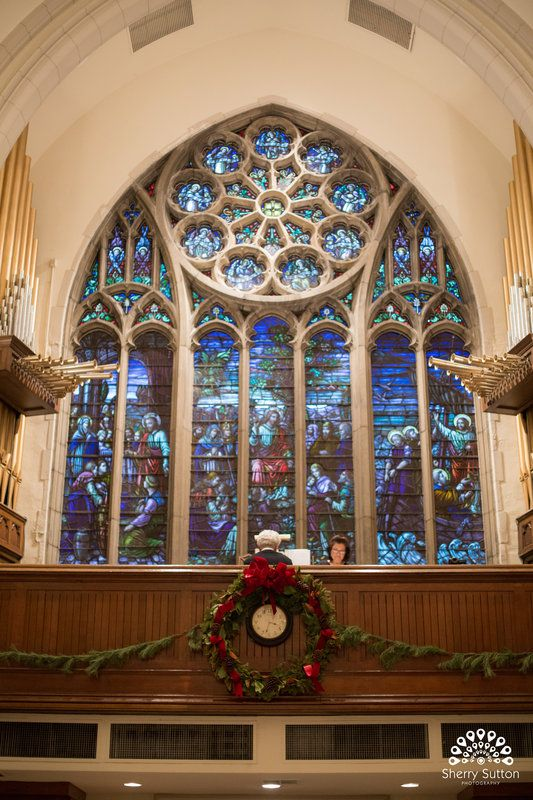 10 best christmas wedding images on pinterest christmas wedding stained glass windows in beautiful church decorated for christmas for caseyjasons wedding photo by junglespirit Image collections