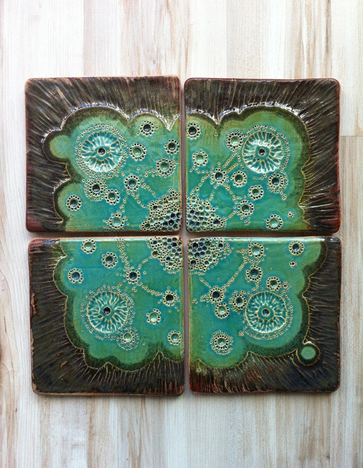 Ceramic tiles#turquoise by nomen omen studio