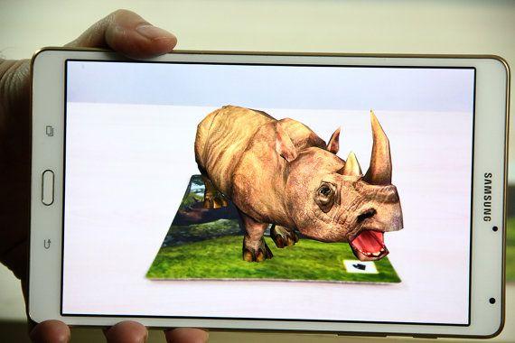 Rhino  cards printable cards kids games games by OrangeKiteLabs