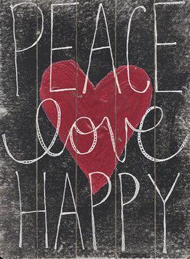 Peace Love Happy