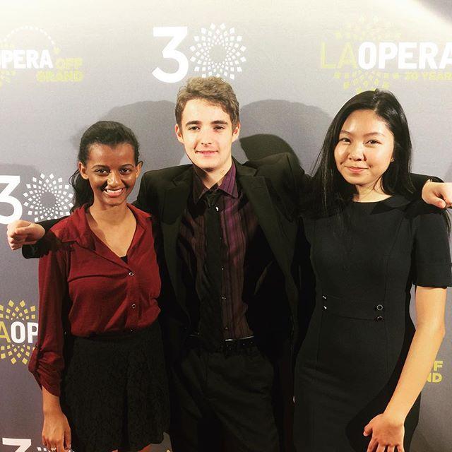 #LAOpera Student Ambassadors helping out at #Norma opening night! #opera @lizdd_ @adam394 @sruhcho