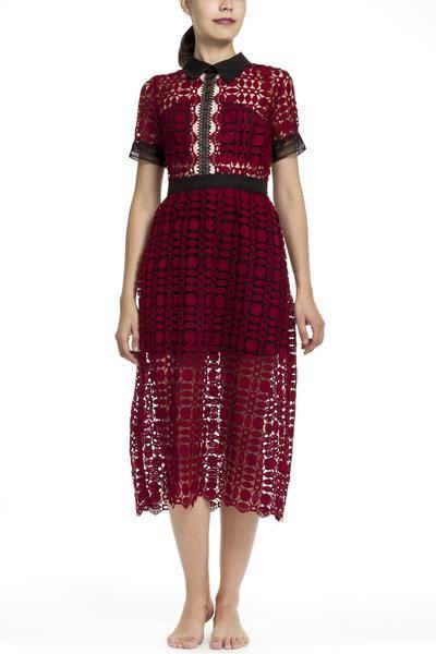 Claret lacy dress