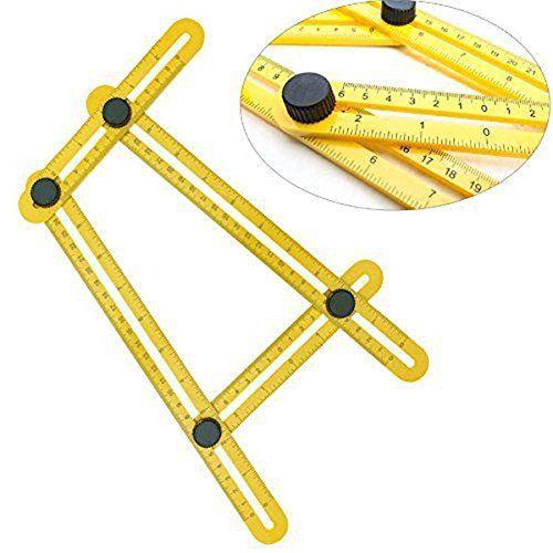 ASDOMO Angle-izer Template Tool, Multi-Angle Measuring Ruler, General Angleizer Template Ruler for Handymen Builders Craftsmen