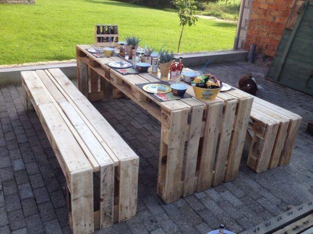 19 wunderschöne Inspirationen für günstige Garten-Palettenmöbel
