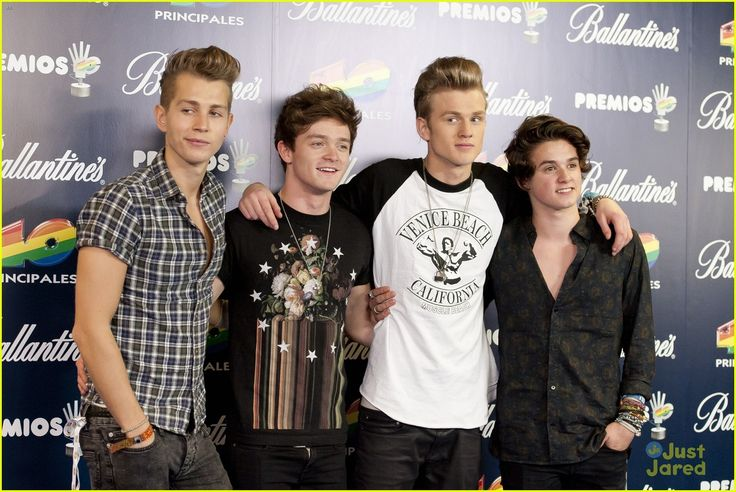 The four hotties from The Vamps - James McVey, Connor Ball, Tristan Evans, and Brad Simpson