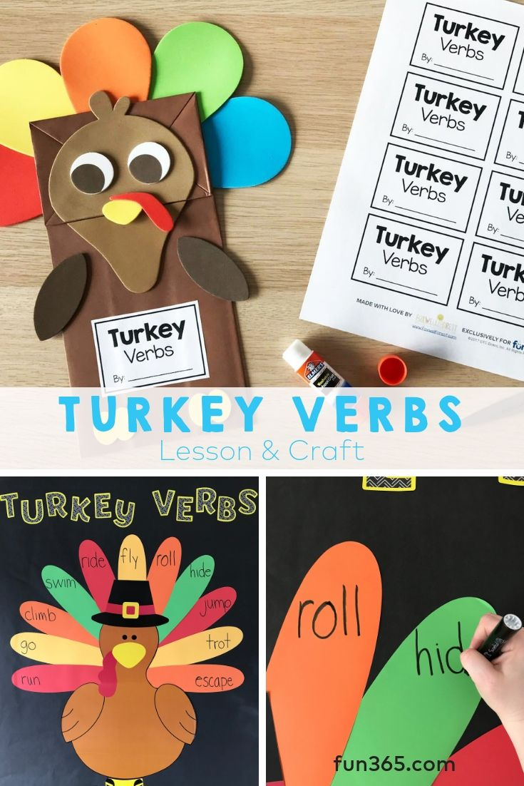 Help Your Students Understand Verbs With This Turkey Verbs Lesson