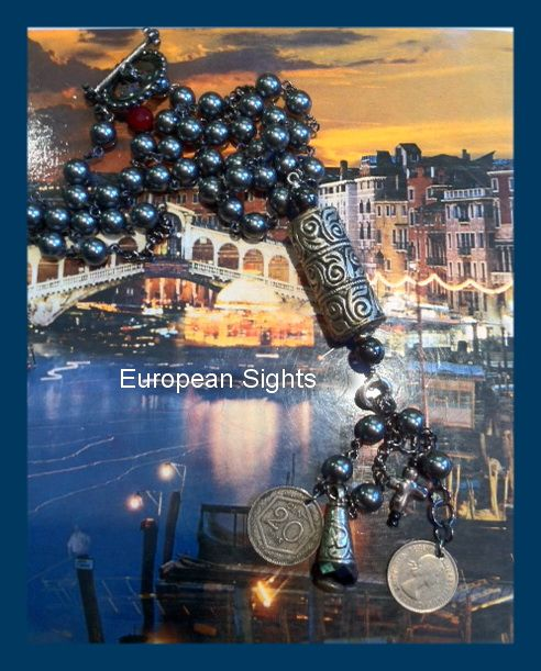 European Sights - European Sights with old coins (b4 the Euro) from Italy and France