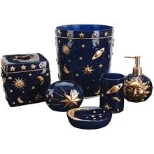Celestial bathroom accessories celestial shower curtains for Zodiac bathroom accessories