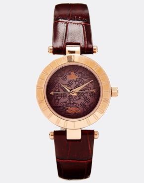 Vivienne Westwood Time Machine Purple Croc Watch VV092BRBR