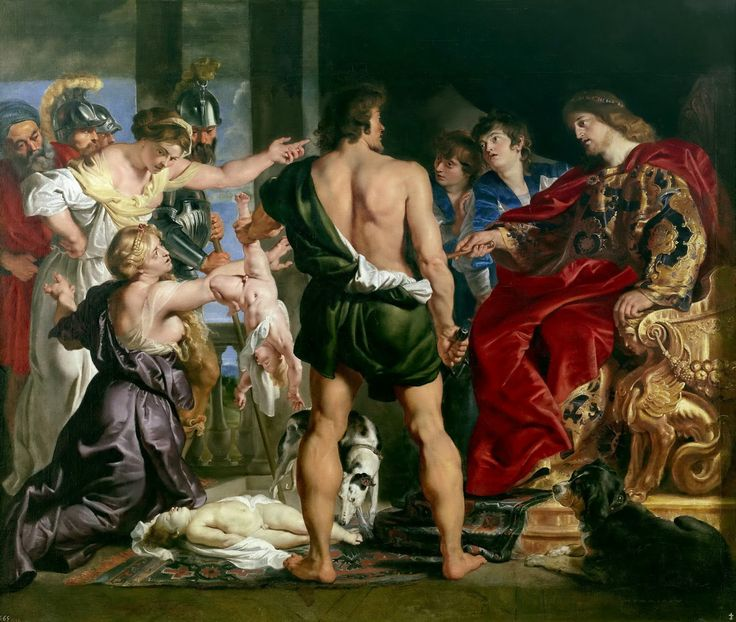 Workshop of Peter Paul Rubens - The Judgement of Solomon [1611-14]  #17th #Classic #Painting #Peter #Paul #Rubens #Solomon