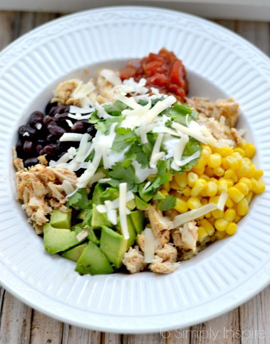 A Southwestern Rice Bowl is a go to clean eating meal that is simply scrumptious! Add any fresh ingredients like cilantro, guacamole, salsa, olives, or other favorites.