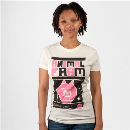 Animal Farm book cover t-shirt