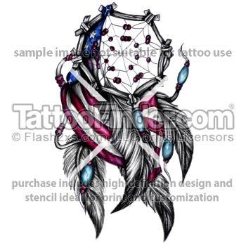 Dream Catcher Tattoos | TattooFinder.com : American Dream Catcher tattoo design by Linz