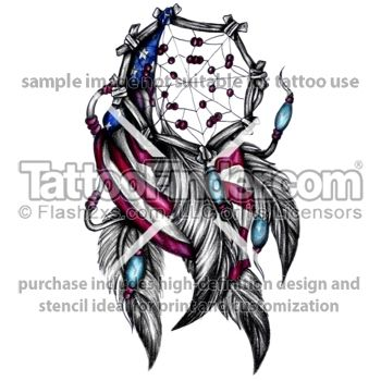 Dream Catcher Tattoos  | TattooFinder.com : American Dream Catcher tattoo design by Linz