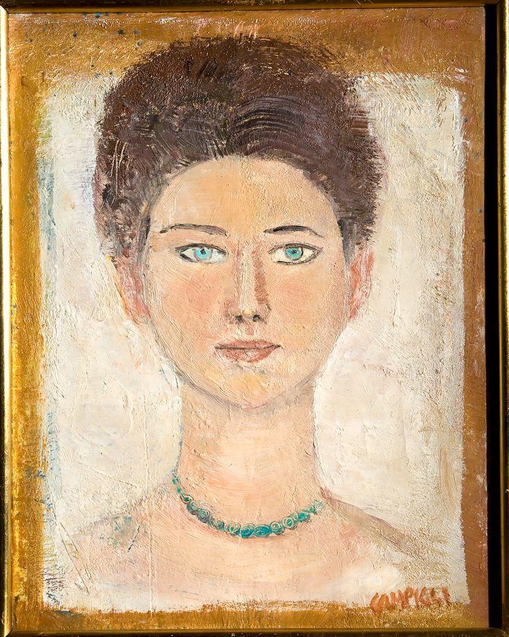 Massimo Campigli, Ritratto di Olga Capogrossi, 1959 o 1960, olio su tela.