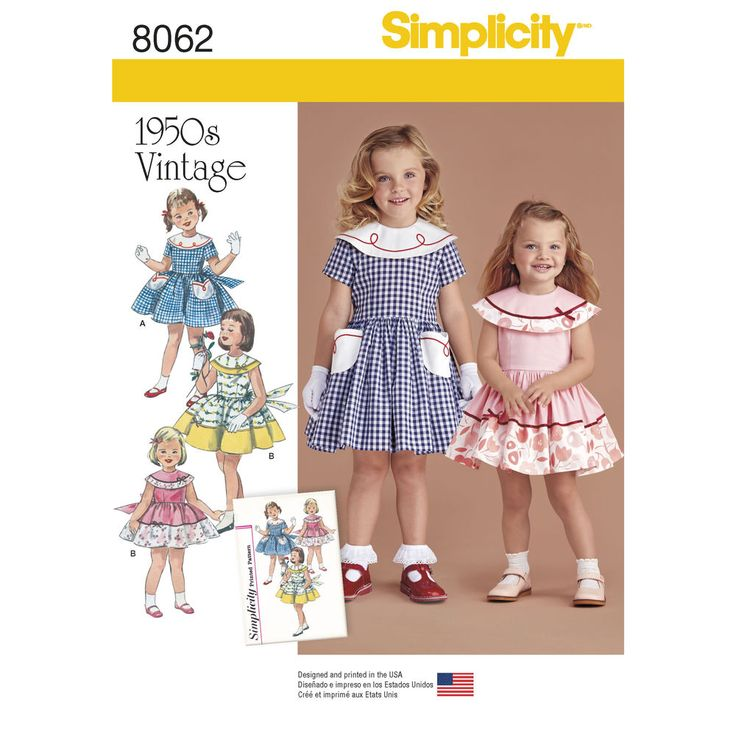 Simplicity Pattern 8062 Vintage Dress For Toddler And Child