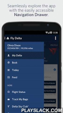 Fly Delta  Android App - playslack.com ,  DESCRIPTION:Introducing Fly Delta 3.0, the biggest update yet to Delta's award winning Android app. With redesigned navigation, quick access to important day-of-travel information and a history of all your notifications, Fly Delta makes travel easier than ever before.• Find, compare and book Domestic and International flights• Book SkyMiles® award tickets• Purchase Delta Comfort+™ and other seat products and Trip Extras, including in-flight Wi-Fi…