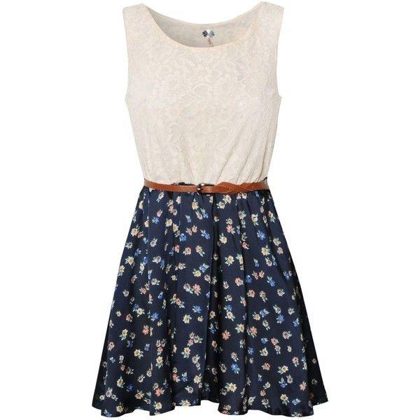 Ribbon Lace Vintage Dress found on Polyvore
